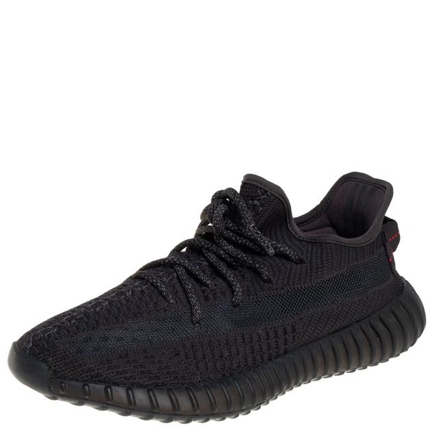 Item - Grey Knit Fabric Boost 350 V2 Sneakers Size 40 2/3 Athletic