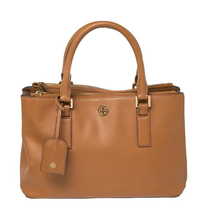 Item - Robinson Brown Leather Double Zip Tote