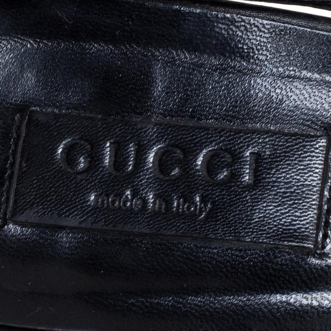 Gucci Horsebit Black Gg Canvas and Leather Studded Pointed Size 40 Sandals Gucci Horsebit Black Gg Canvas and Leather Studded Pointed Size 40 Sandals Image 7