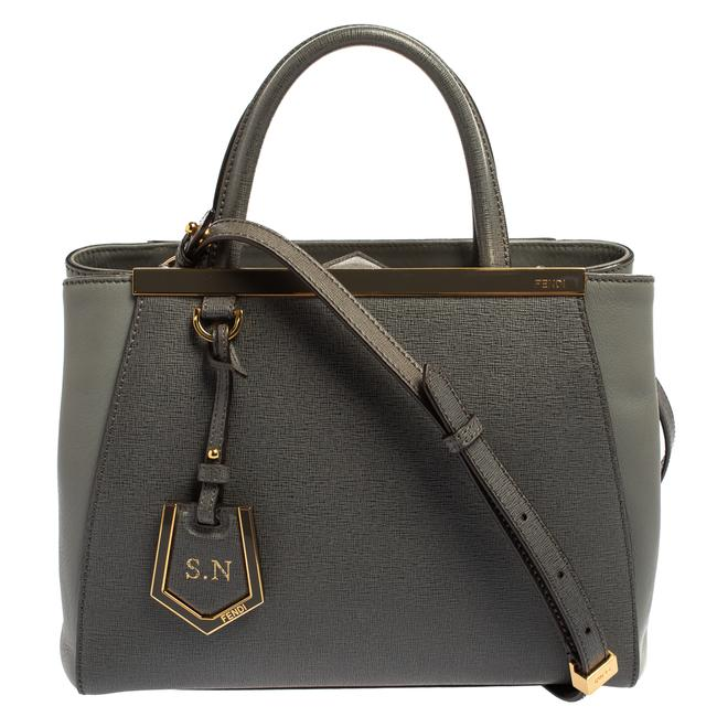 Item - Grey Leather Mini 2jours Tote