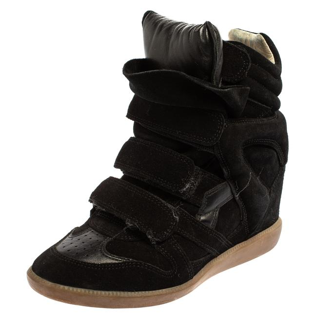 Item - Black Suede Velcro High Top Sneakers Size 37 Athletic