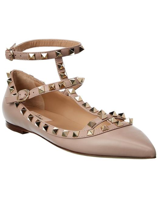Item - Rockstud Caged Leather Ankle Strap Uw2s0376 Vod P45 Flats