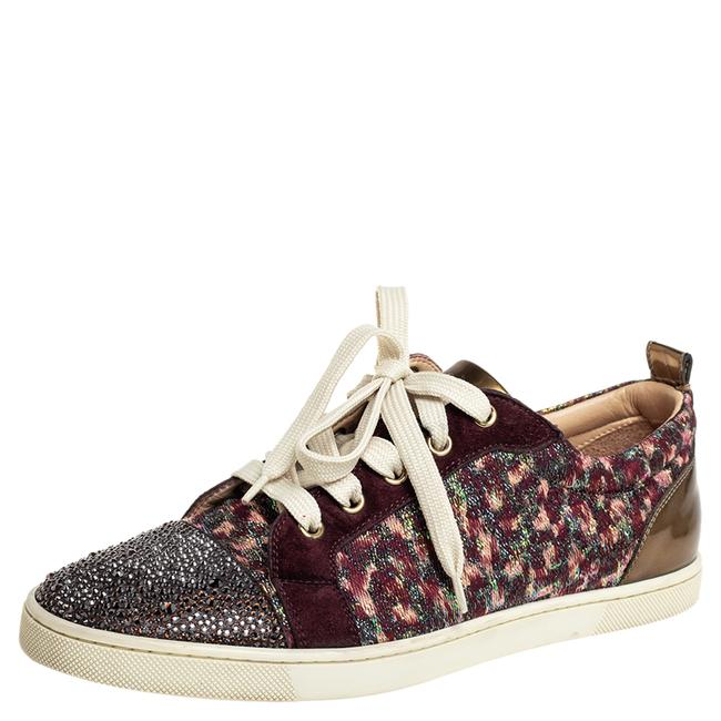 Item - Multicolor Suede and Lurex Fabric Gandolastrass Sneakers Size 40 Athletic