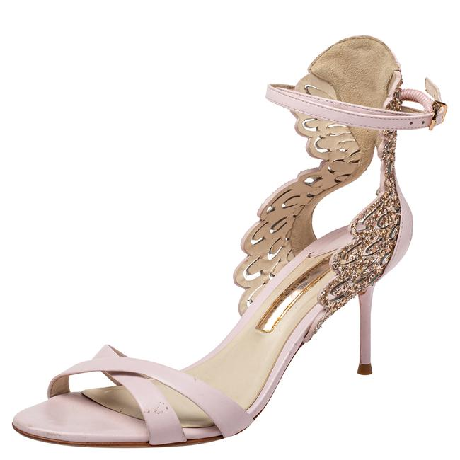 Item - Pink Leather Ankle Strap Size 38 Sandals