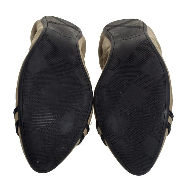 Burberry Beige/Black Leather and Canvas Scrunch Ballet Size 39 Flats Burberry Beige/Black Leather and Canvas Scrunch Ballet Size 39 Flats Image 6