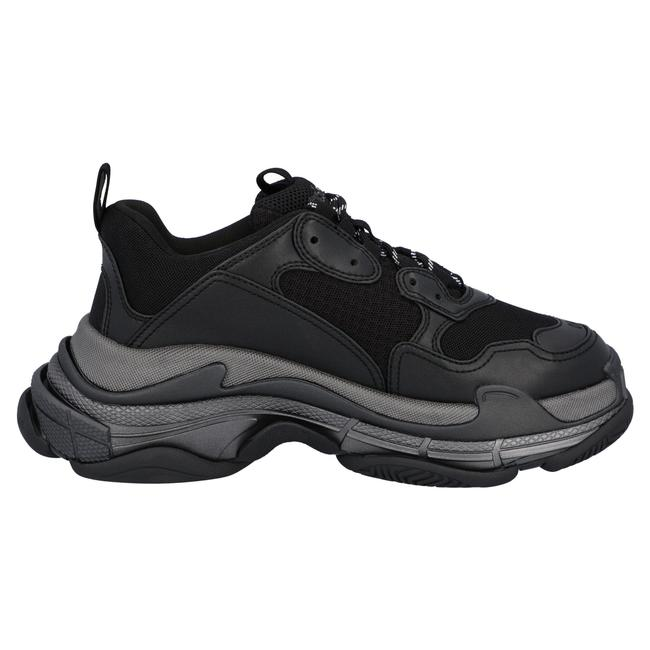 Item - Triple S In Black Faux Leather and Mesh Upper For Men Sneakers