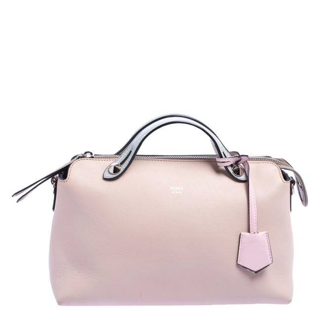Item - Boston Pink/Blue Leather Small By The Way Shoulder Bag