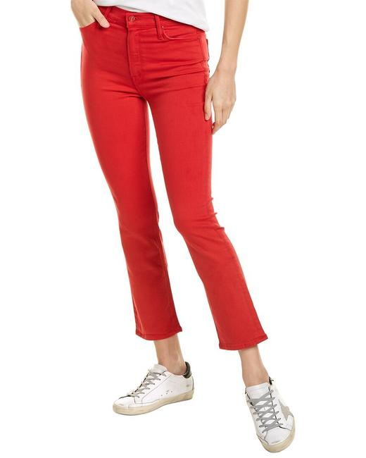 Item - The Dazzler Mars Red Ankle Cut 1276-753 Mrs Straight Leg Jeans