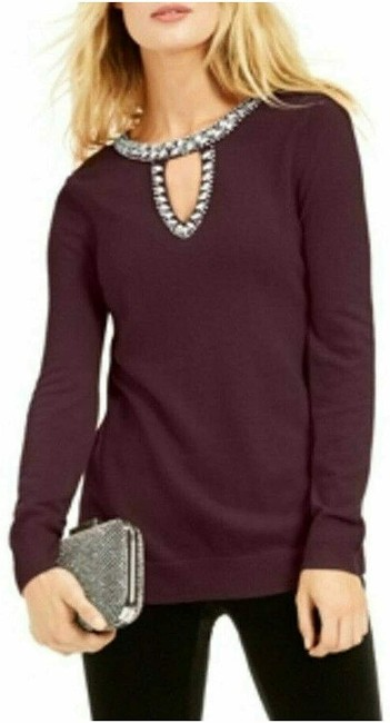 Item - XL Women's Eggplant Purple Size Embellished Sweater/Pullover