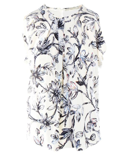 Item - Printed Silk Top -pre Owned Condition Very Good Fr36 Blouse