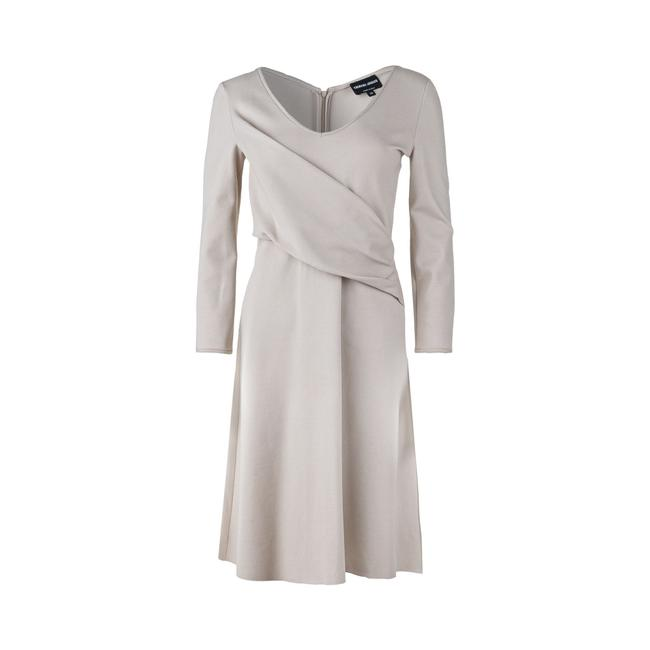 Item - Emporio Ruched Midi 3/4 Sleeve -pre Owned Condition Very Formal Dress