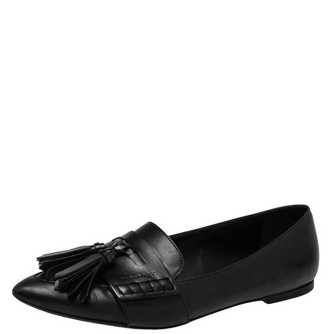 Item - Black Leather Coledale Tassel Pointed Toe Penny Size 40 Loafers