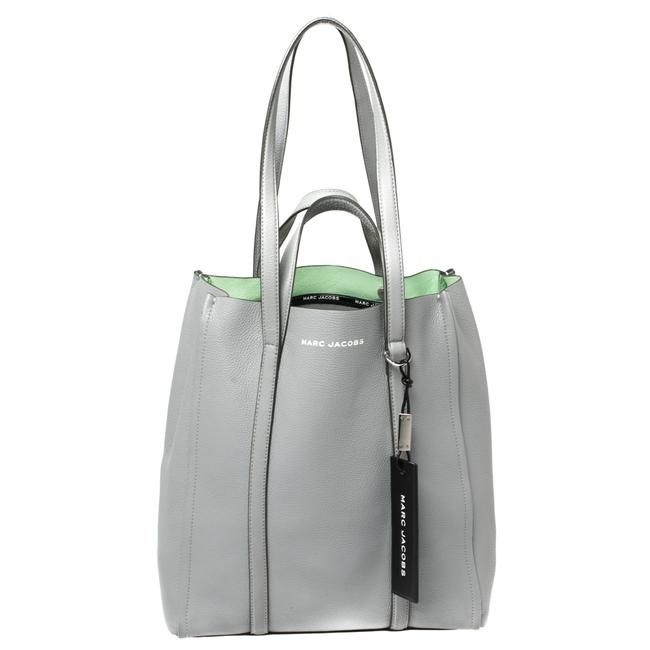Item - Grey Pebbled Leather The Tag Tote
