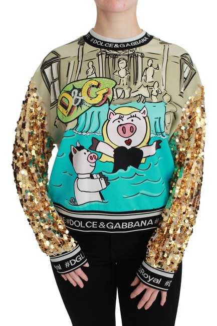 Item - Year Of The Pig Sequined Sweater/Pullover