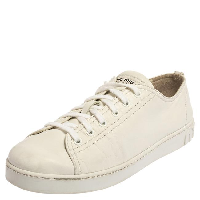 Item - White Leather Low Top Sneaker Size 40.5 Athletic