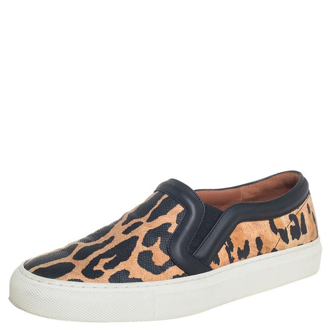 Item - Two Tone Leopard Print Leather Slip On Sneakers Size 36 Athletic
