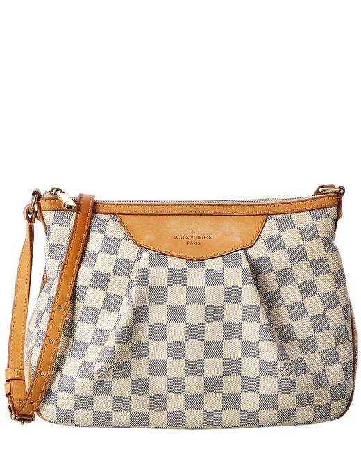 Item - Siracusa Pre-owned Damier Azur Canvas Pm Qjb12a4zwf012 Tote