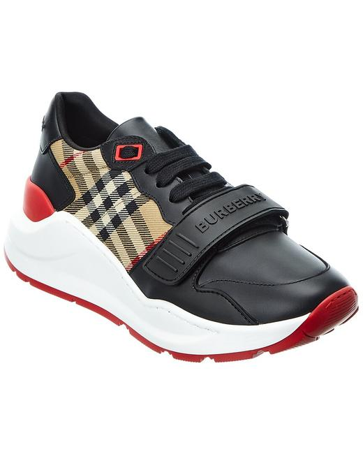 Item - Vintage Check Canvas & Leather Sneaker 8038184 Athletic