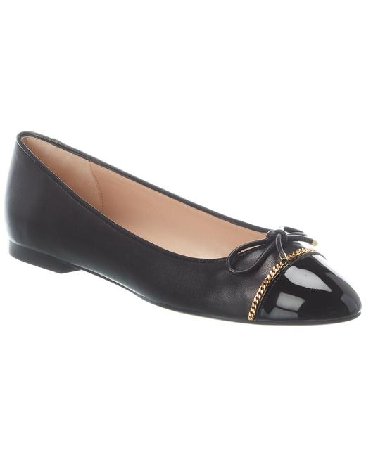 Item - Leather Gabby Chain Link Flats