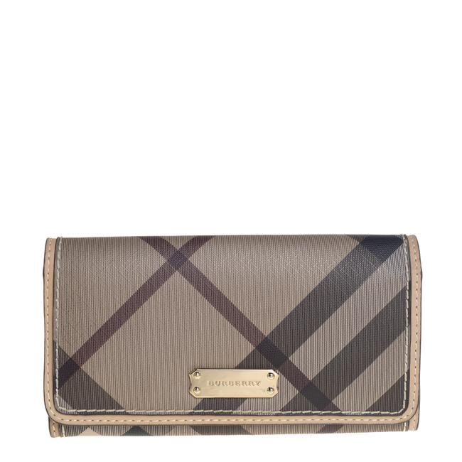 Item - Beige Nova Check Coated Canvas and Leather Continental Wallet