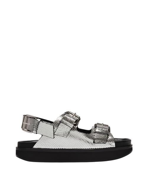 Item - Ophie In Silver Leather Sandals
