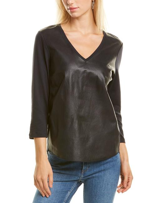 Item - Leather Front Top M152fts372 Blouse