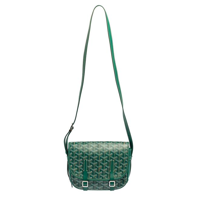 Item - Green ine Coated Canvas and Leather Belvedere Pm Shoulder Bag