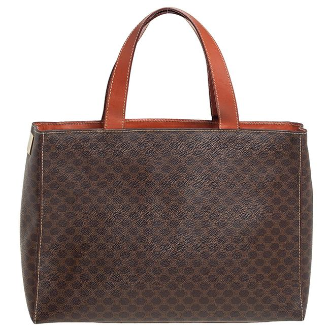 Item - Macadam Brown/Tan Coated Canvas and Leather Tote