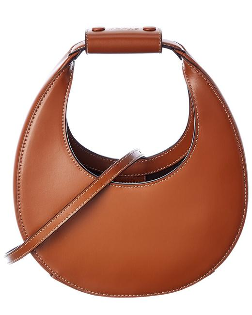 Item - Curved Leather 079244 Tan Clutch