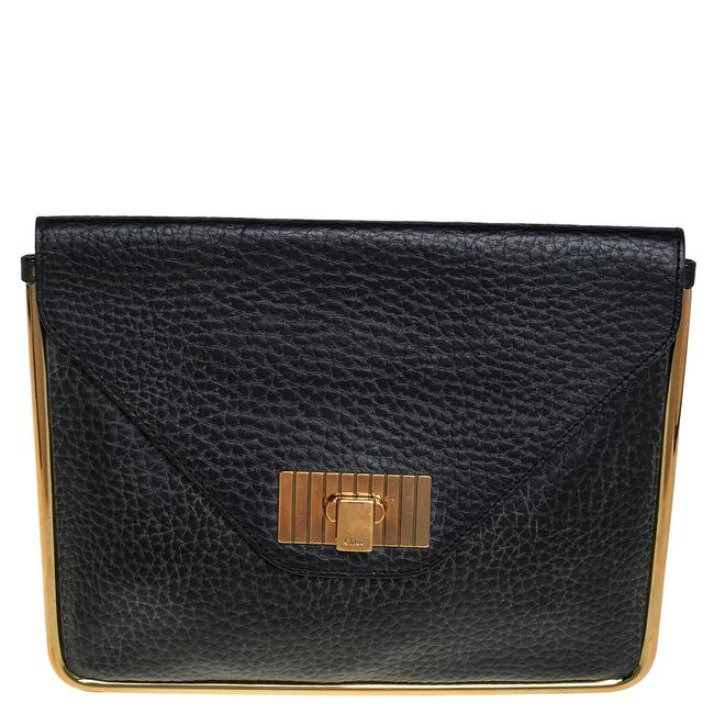 Item - Sally Pebbled Leather Envelope Clutch