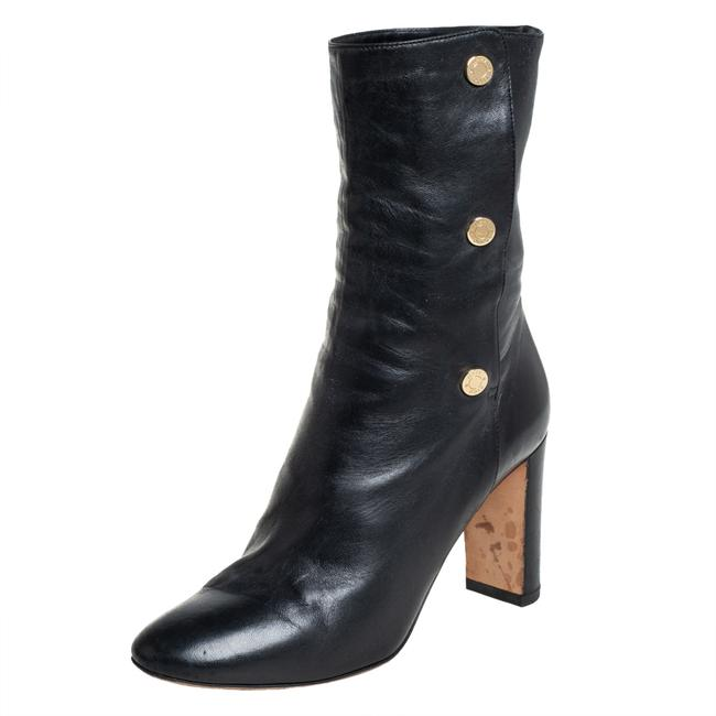 Item - Black Leather Mid Calf Size 35.5 Boots/Booties