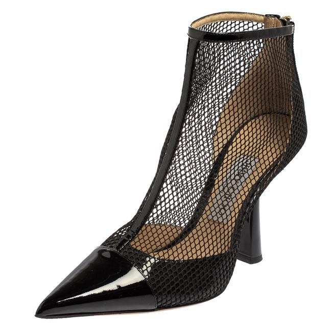 Item - Black Mesh and Patent Leather Ankle Size 37 Boots/Booties