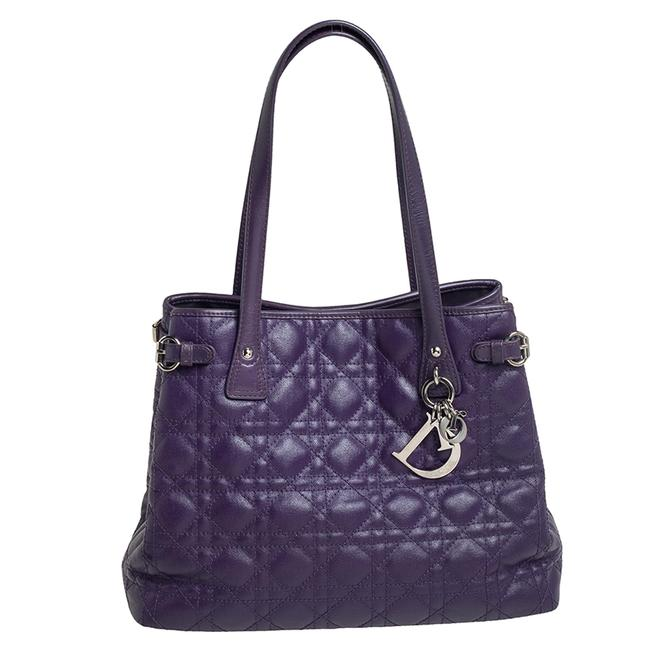 Item - Violet Cannage Coated Canvas and Leather Small Panarea Tote
