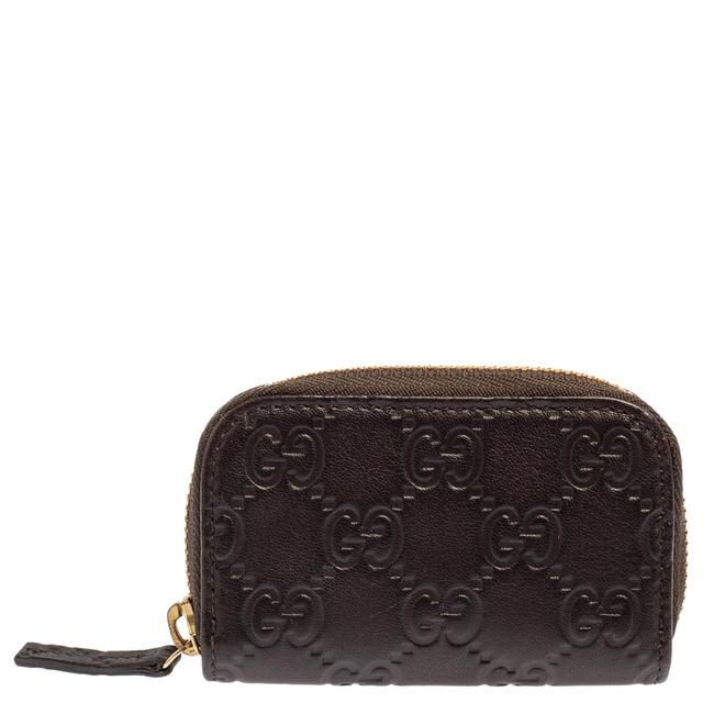 Item - Dark Brown ssima Leather Coin Purse Wallet
