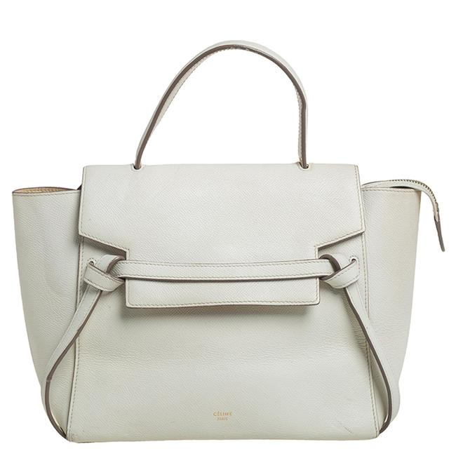 Item - Top Handle Bag Off White Leather Micro Belt