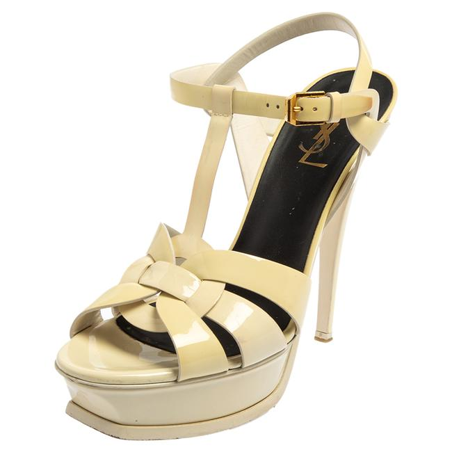 Item - Tribute White Patent Leather Size 39 Sandals