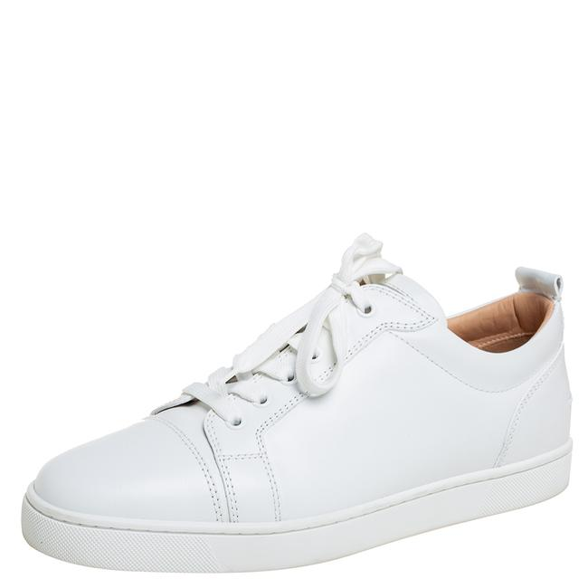 Item - White Leather Low Top Sneakers Size 42.5 Athletic