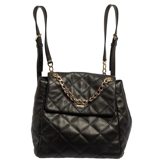 Item - Black Quitled Leather Emerson Place Martina Backpack