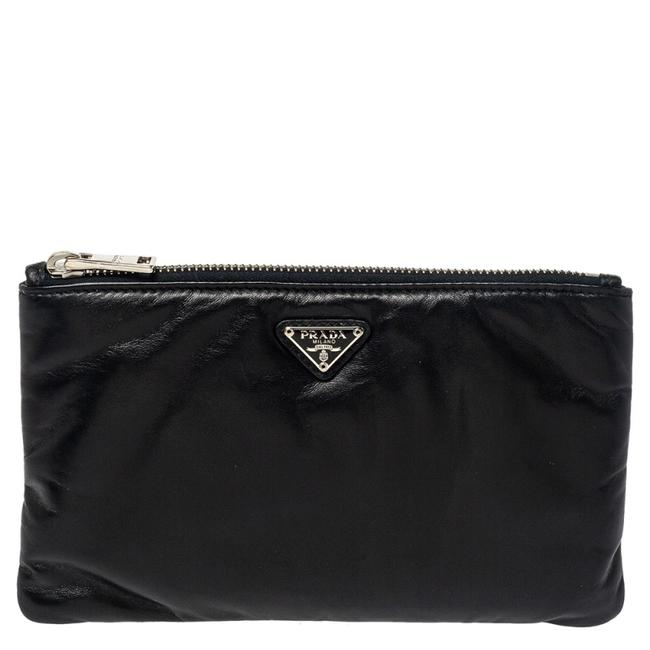 Item - Leather Zip Pouch Clutch