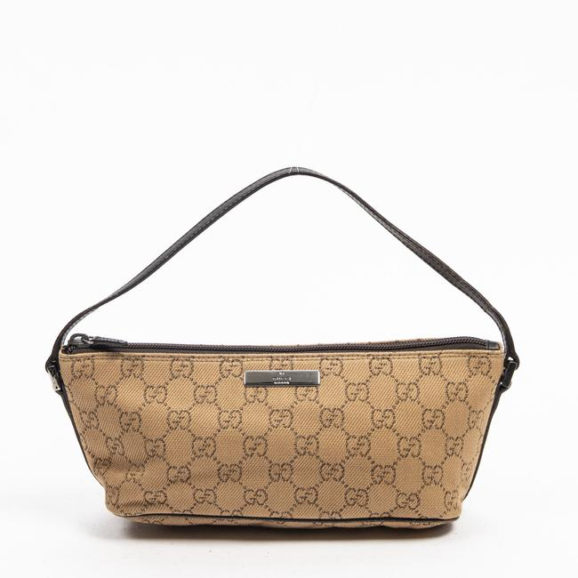 Item - Accessory Pouch In Beige Canvas Shoulder Bag