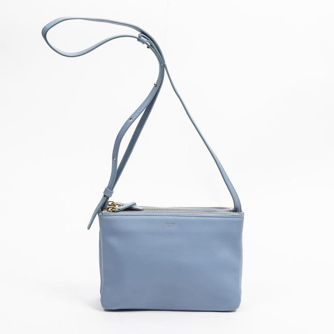 Item - Trio Small In Baby Blue Calf Leather Shoulder Bag