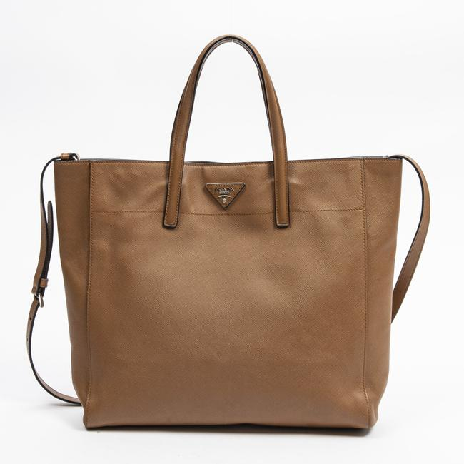 Item - Shopping Tote In Brown Calf Leather Shoulder Bag