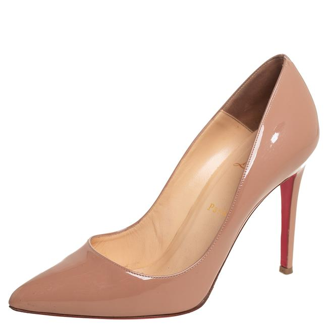 Item - Beige Patent Leather Pigalle Pointed Size 40 Pumps