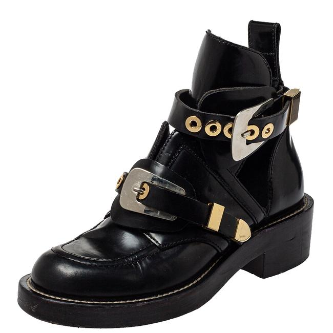 Item - Black Leather Ceinture Ankle Size 36 Boots/Booties