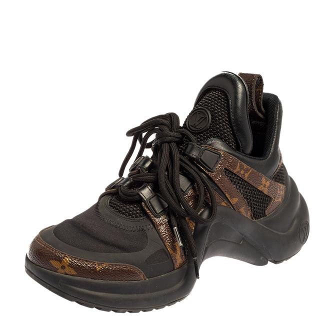 Item - Black/Brown Monogram Canvas and Neoprene Archlight Sneakers Size 36 Athletic