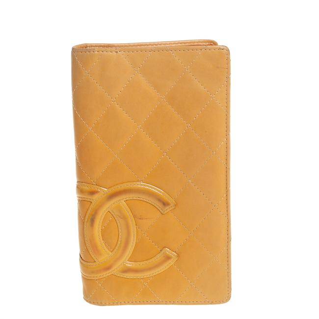 Item - Cambon Beige Quilted Leather Cc Wallet