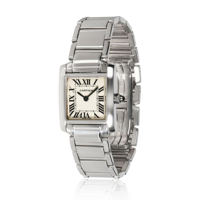 Item - Tank Francaise W50012s3 Women's In 18kt White Gold Watch