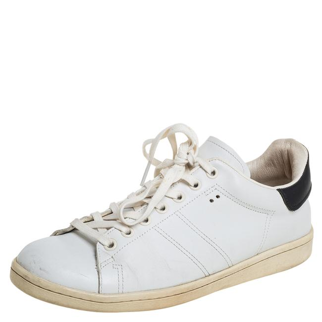 Item - White/Black Leather Sneakers Size 39 Athletic