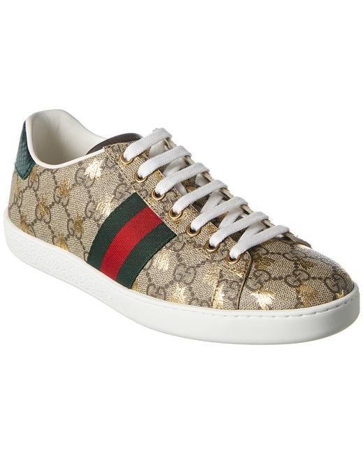 Item - Ace Gg Supreme Bees Canvas Sneaker 550051 9n020 8465 Athletic