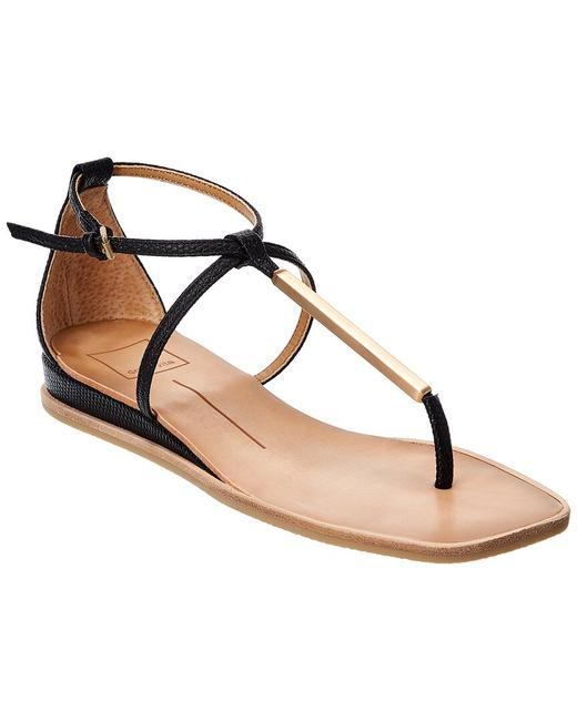 Item - Lizard-embossed Leather Rayer Sandals
